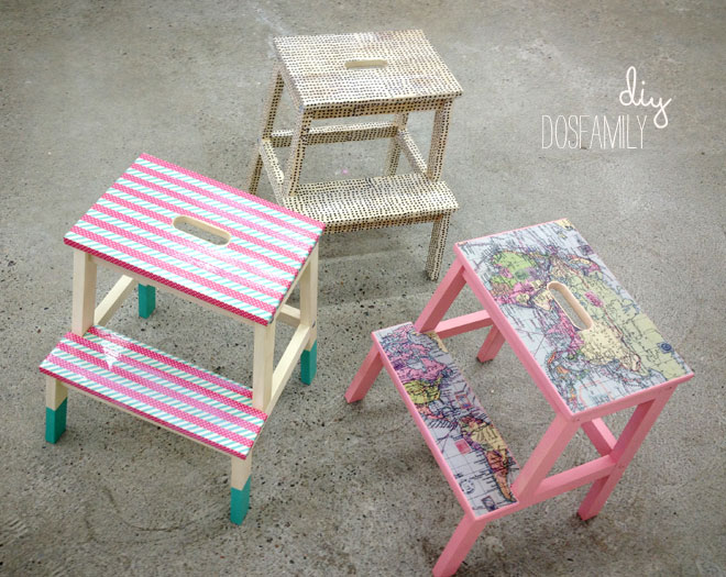 Magnificent Ikea Stool Diy With Washi And Decoupage Dos Family Machost Co Dining Chair Design Ideas Machostcouk