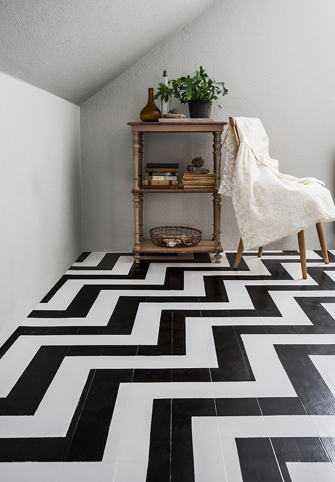 Tutorial How To Paint Chevron Floor Inspired By Twin