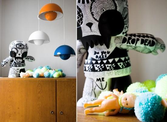 Lisa´s art lit by Verner Pantons Flowerpots
