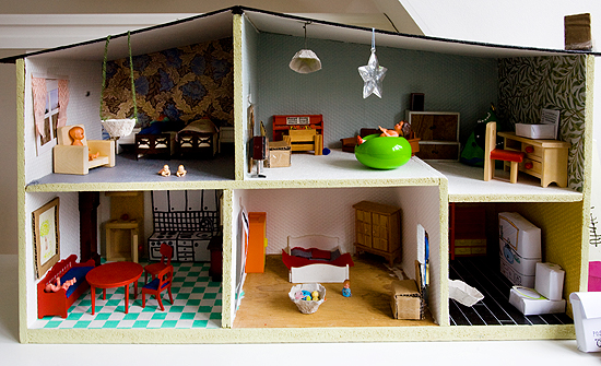 homemade dollhouse furniture. Delighful Dollhouse Doll House With Some Home Made Furniture To Homemade Dollhouse Furniture L